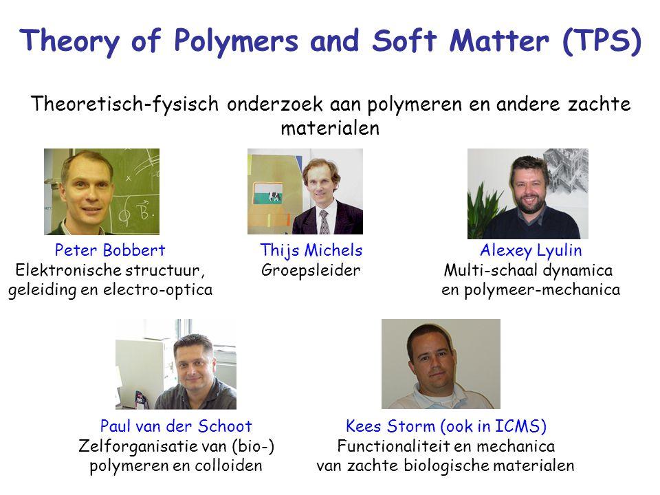 Theory of Polymers and Soft Matter (TPS) Thijs Michels Groepsleider Paul van der Schoot Zelforganisatie van (bio-) polymeren en colloiden Alexey Lyuli