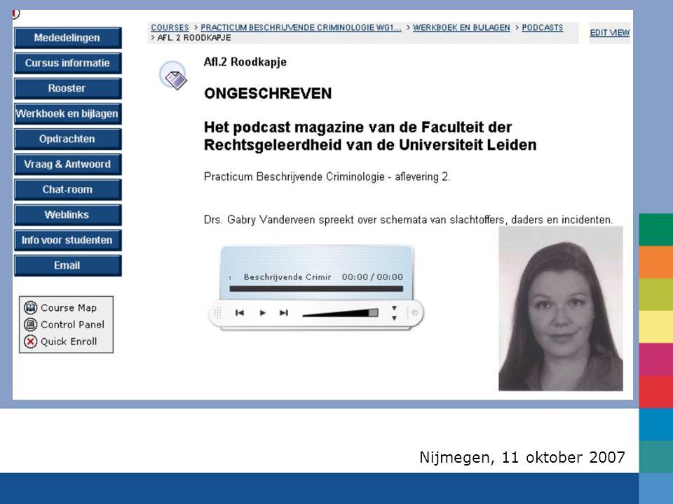 Nijmegen, 11 oktober 2007