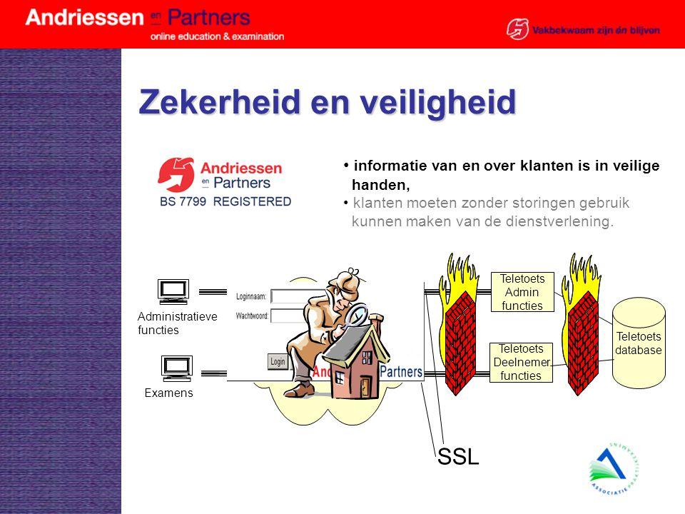 Zekerheid en veiligheid informatie van en over klanten is in veilige handen, klanten moeten zonder storingen gebruik kunnen maken van de dienstverleni