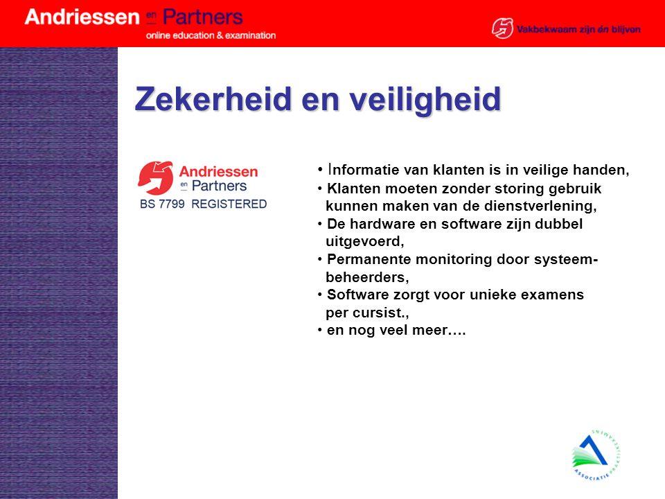 Voorbeelden van flexibel opleiden en examineren Zie http://www.andriessen.nl/weltengroephttp://www.andriessen.nl/weltengroep Zie http://www.toetscentra.nl/http://www.toetscentra.nl/ Open vragen examen http://www.andriessen.nl/portalhttp://www.andriessen.nl/portal Item analyse: www.telecursus.org/administratie/adm_login.aspx?organisatieid=41