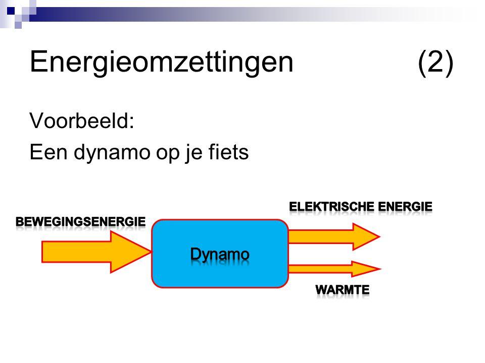 Energieomzettingen(2) Voorbeeld: Een dynamo op je fiets