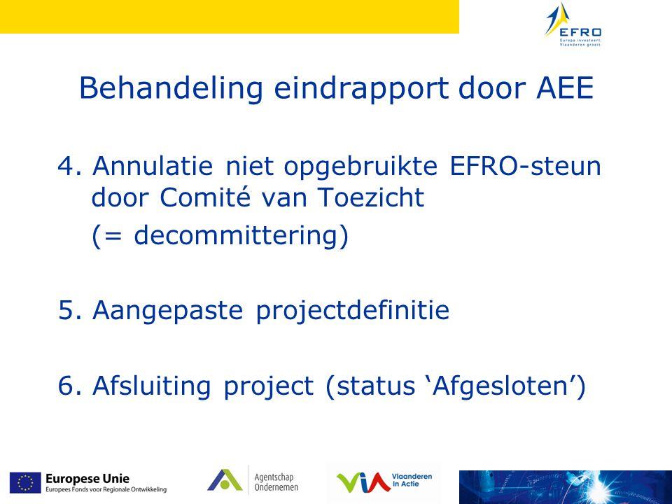 Behandeling eindrapport door AEE 4.