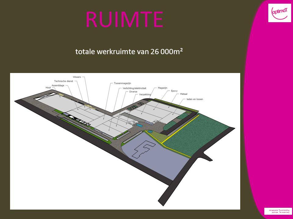 aangepaste Tewerkstelling optimale Tevredenheid RUIMTE totale werkruimte van 26 000m²