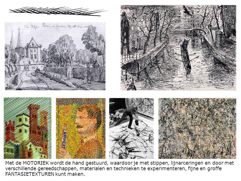 In deze tekening van Vincent van Gogh wordt net als in de schilderijen de lijn benadrukt.