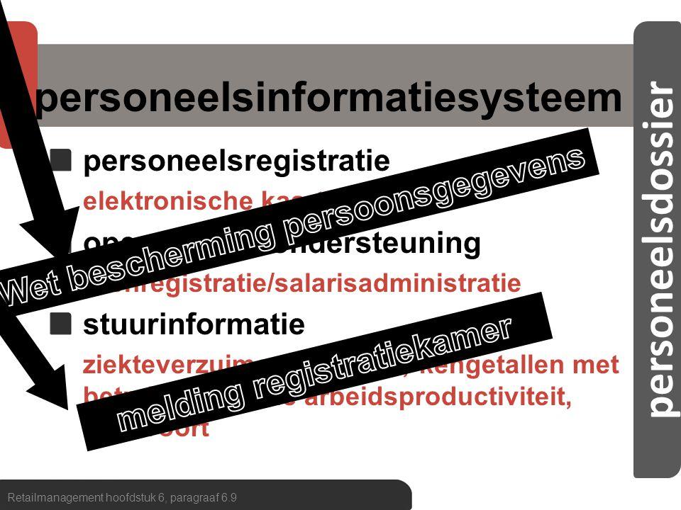 personeelsdossier personeelsinformatiesysteem Retailmanagement hoofdstuk 6, paragraaf 6.9 verkoopspecialist