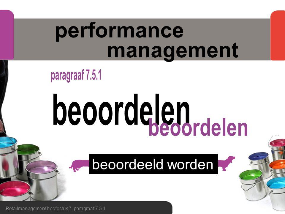 performance management Retailmanagement hoofdstuk 7, paragraaf 7.5.1 beoordeeld worden