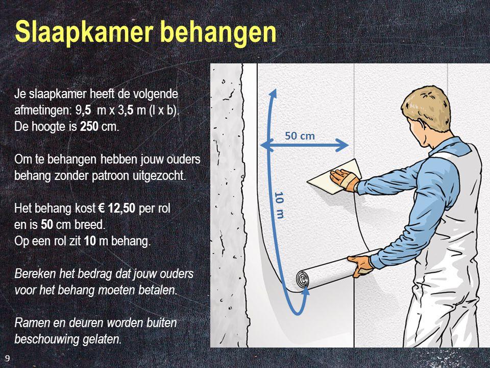 Schroten plafond Afmetingen keuken: l x b = 490 cm x 254 cm. Lengten schroten: 2,70 m; 3,00 m; 3,60 m en 4,00 m. Een werkende breedte van 10 cm. Schro