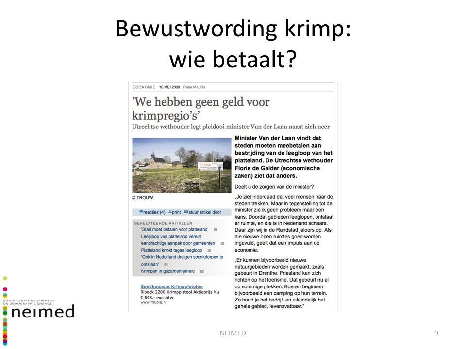 NEIMED10 Reacties op krimp De 4 B's van Gert-Jan Hospers (2010): Bagatelliseren Bestrijden Begeleiden Benutten