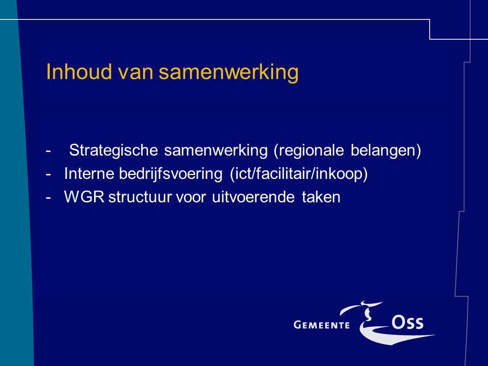 Vormen van samenwerking – Convenant /Intentieverklaring/Contract – Gemeenschappelijke regeling