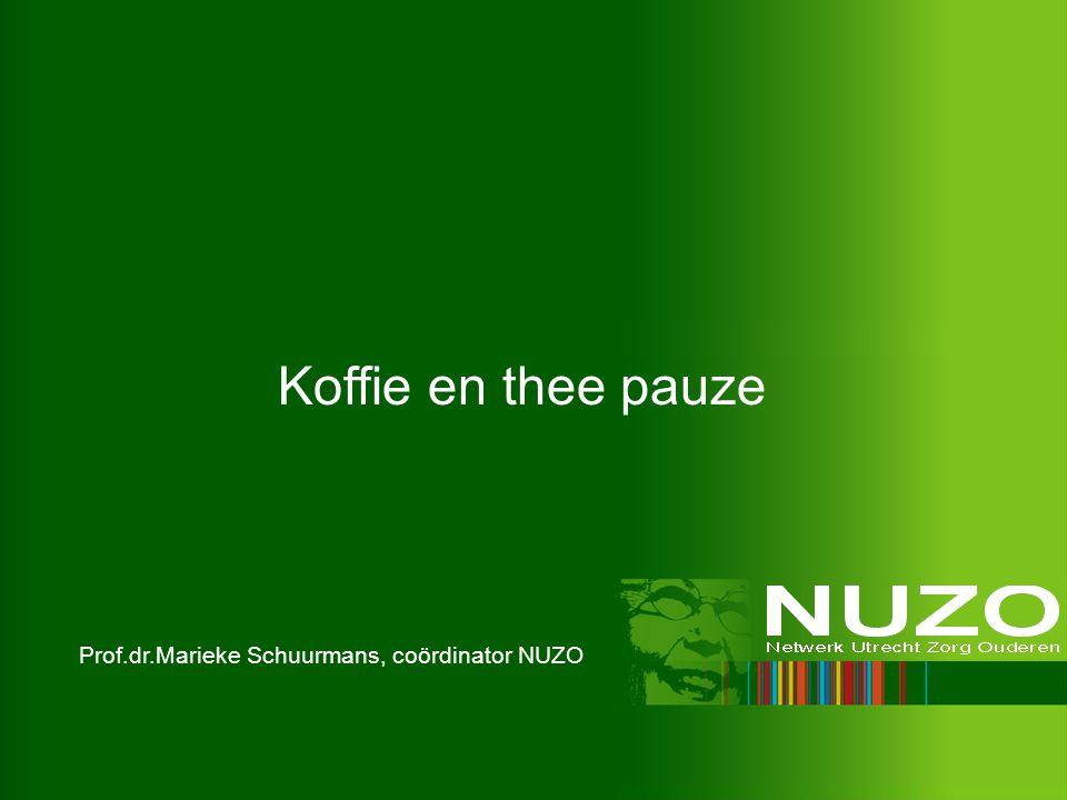 Prof.dr.Marieke Schuurmans, coördinator NUZO Koffie en thee pauze
