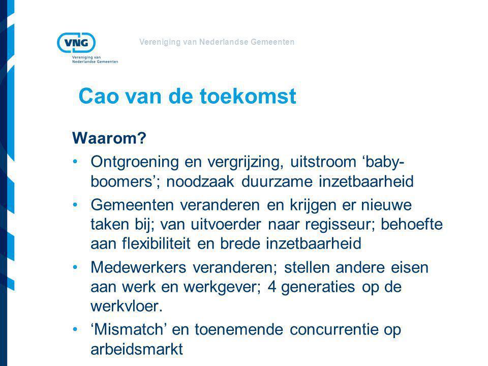 Vereniging van Nederlandse Gemeenten Cao van de toekomst Waarom.