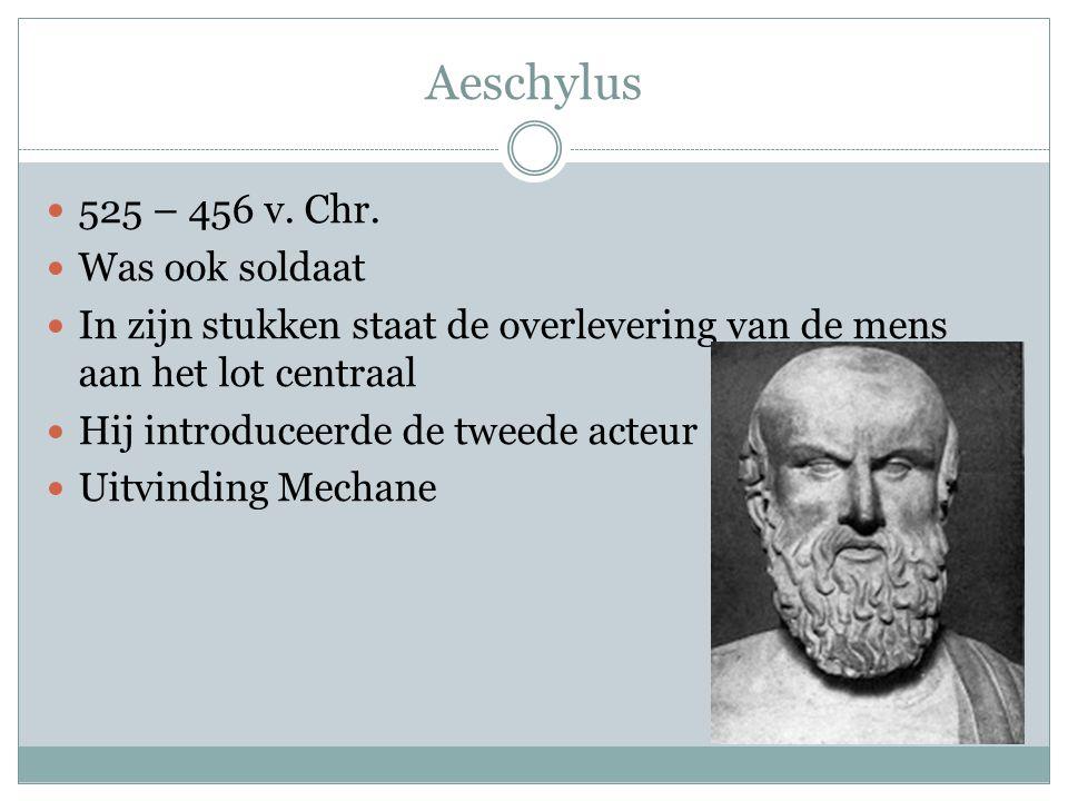 Aeschylus 525 – 456 v.Chr.