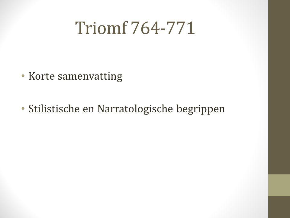 Triomf 764-771 Korte samenvatting Stilistische en Narratologische begrippen