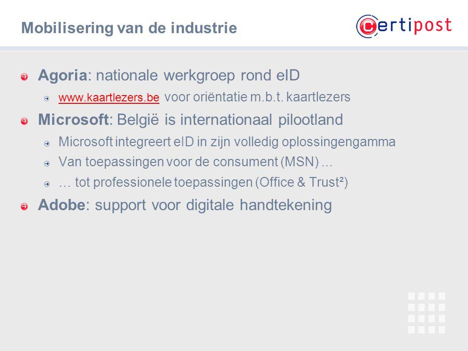 ‹#› Mobilisering van de industrie Agoria: nationale werkgroep rond eID www.kaartlezers.be www.kaartlezers.be voor oriëntatie m.b.t. kaartlezers Micros