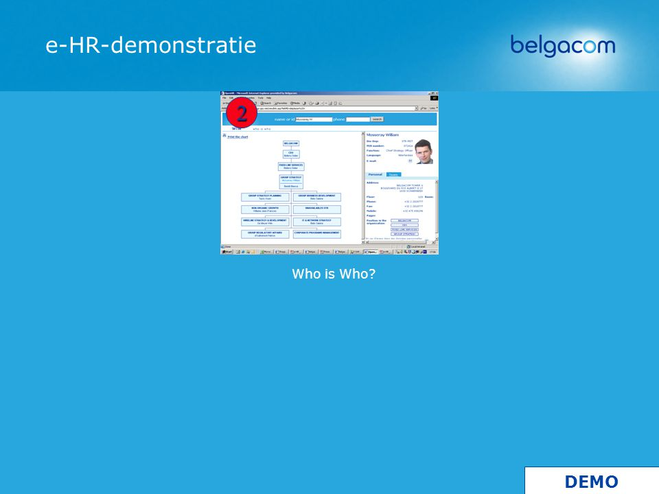 Who is Who e-HR-demonstratie 2 DEMO