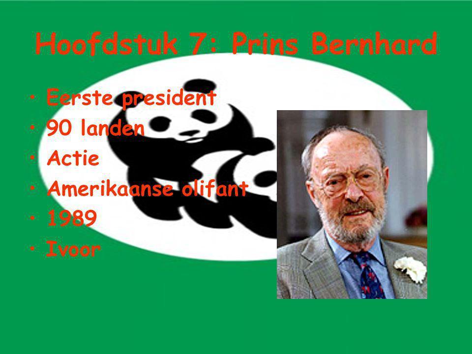 Hoofdstuk 7: Prins Bernhard Eerste president 90 landen Actie Amerikaanse olifant 1989 Ivoor