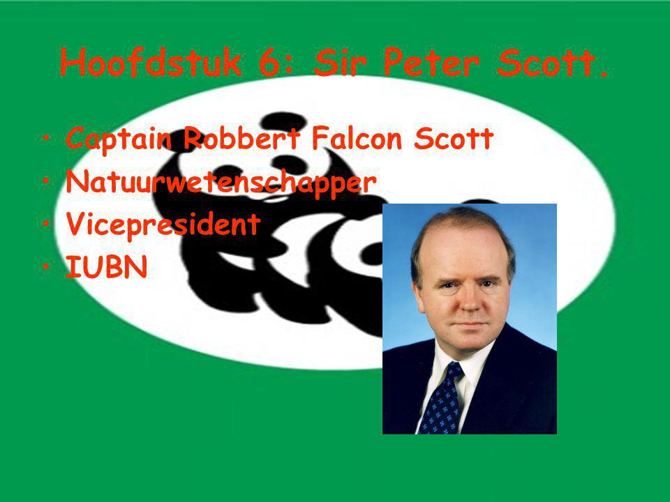 Hoofdstuk 6: Sir Peter Scott. Captain Robbert Falcon Scott Natuurwetenschapper Vicepresident IUBN