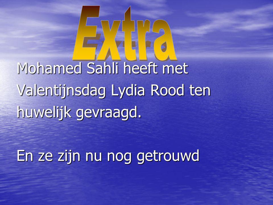Mohamed Sahli heeft met Valentijnsdag Lydia Rood ten huwelijk gevraagd. En ze zijn nu nog getrouwd