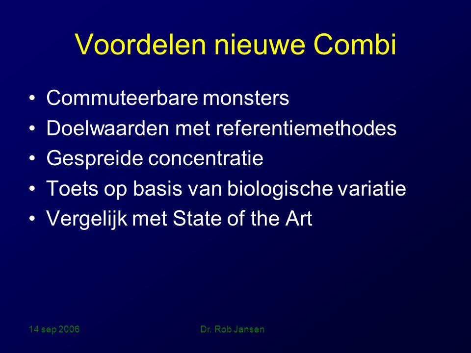 14 sep 2006 Dr. Rob Jansen Combi scoresysteem De Juiste Maat!