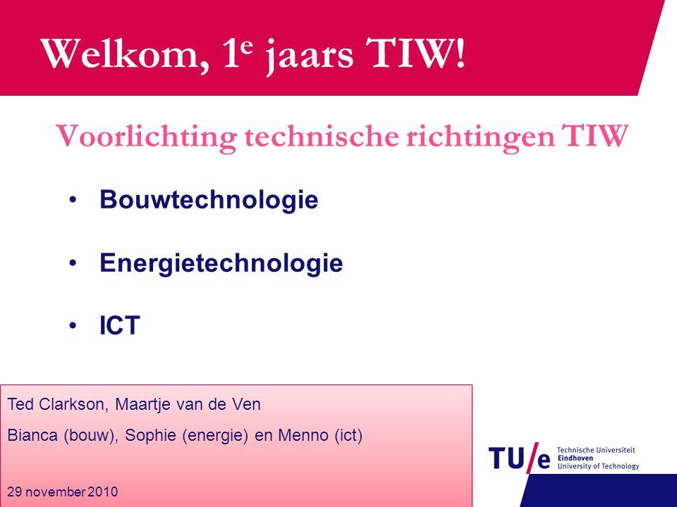 Energie – Inhoud Vakken 8 Werktuigbouw 3 Elektrotechniek 4 Overig 3 OGO's SET (keuze) Mogelijke masters Innovation Sciences Human Technology Interaction Sustainable Energy Technology (WTB)