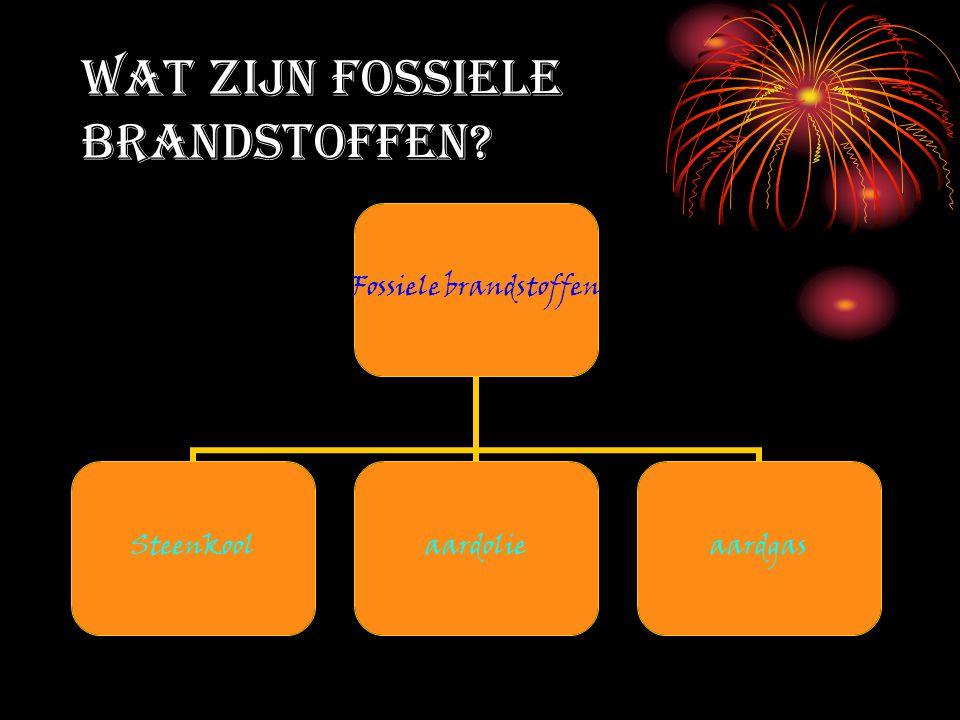 Wat zijn fossiele brandstoffen? Fossiele brandstoffen Steenkoolaardolieaardgas