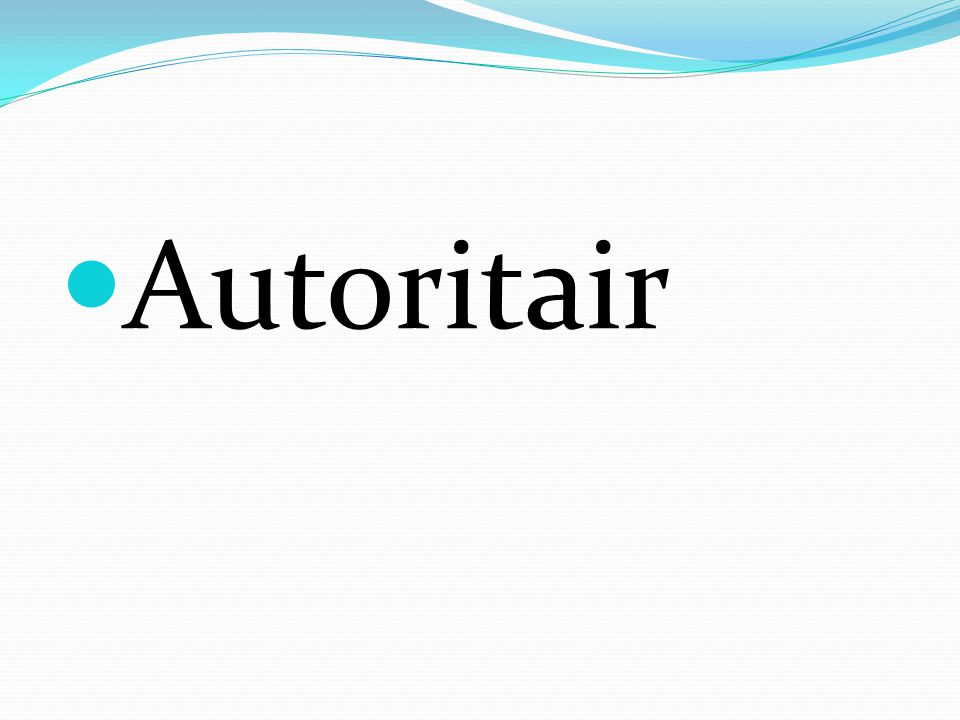 Autoritair