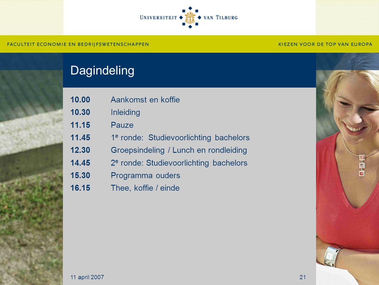 Dagindeling 10.00 Aankomst en koffie 10.30 Inleiding 11.15 Pauze 11.45 1 e ronde: Studievoorlichting bachelors 12.30 Groepsindeling / Lunch en rondlei