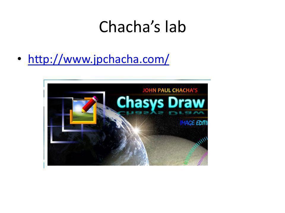Chasys Draw Chasys Draw IES Een suite van toepassingen: Artist 'fotobewerking met lagen' Viewer Convert Raw-Photo (digitale negatieven) Kan portable geinstalleerd worden op een USB stick