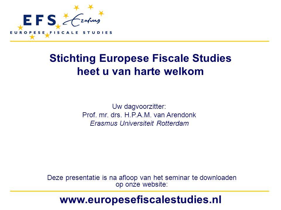 www.europesefiscalestudies.nl Het Hof van Justitie EU: Fiscaal de maat genomen 15.05 Het Hof van Justitie EU: Fiscaal de maat genomen Mr.