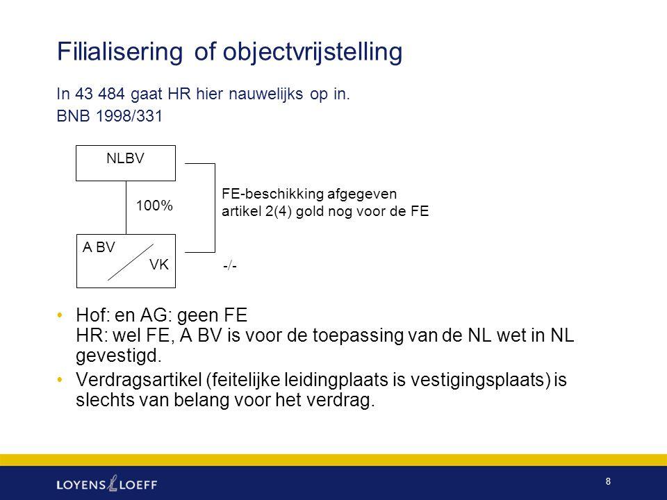 9 BNB 1998/47 -/- 100% B BV is op grond van NL wet inwoner NLBV B BV Ierland