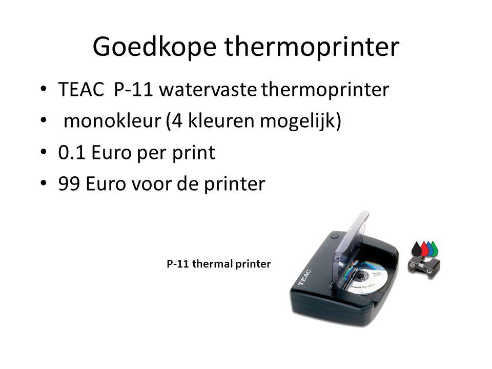 Goedkope thermoprinter TEAC P-11 watervaste thermoprinter monokleur (4 kleuren mogelijk) 0.1 Euro per print 99 Euro voor de printer P-11 thermal print