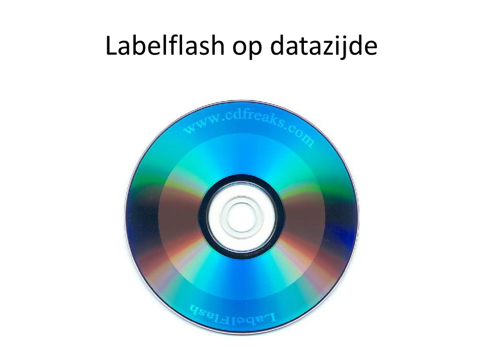 Labelflash op datazijde