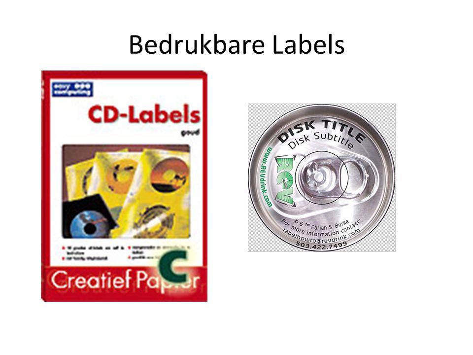 Bedrukbare Labels