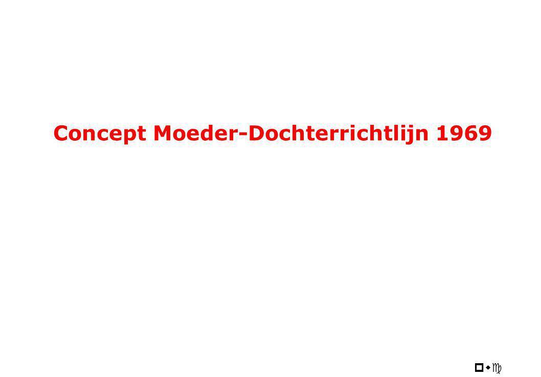pwc Concept Moeder-Dochterrichtlijn 1969