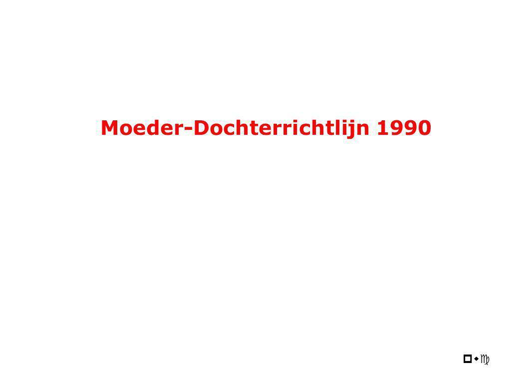 pwc Moeder-Dochterrichtlijn 1990