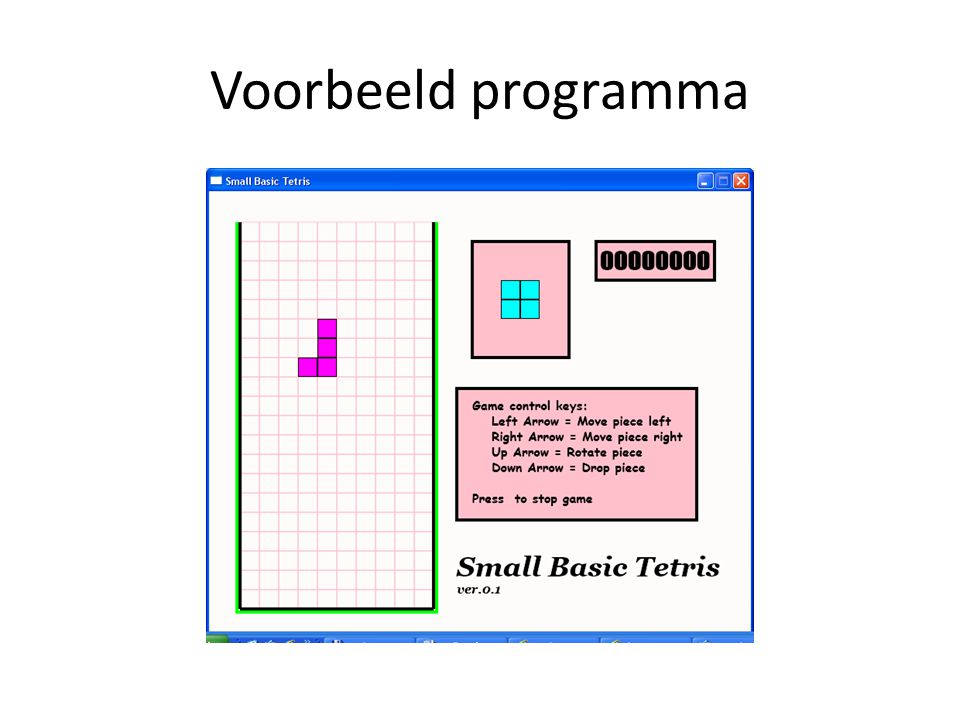 Voorbeeld programma