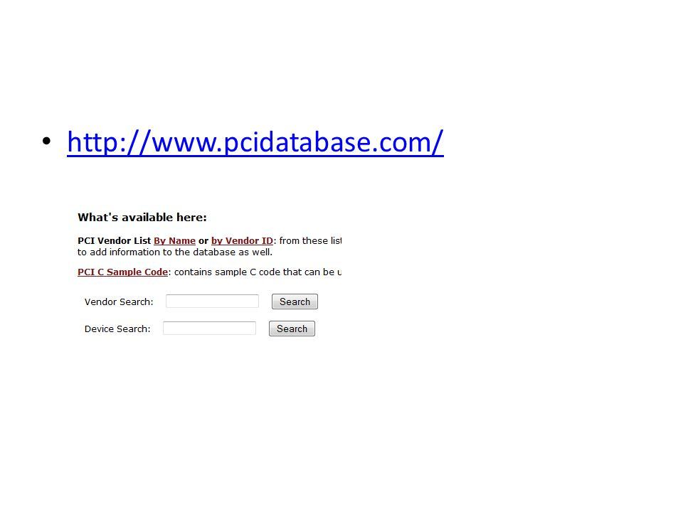 http://www.pcidatabase.com/
