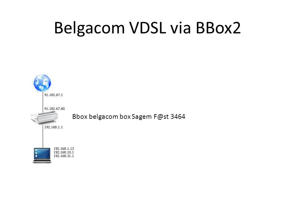 Belgacom VDSL via BBox2 Bbox belgacom box Sagem F@st 3464