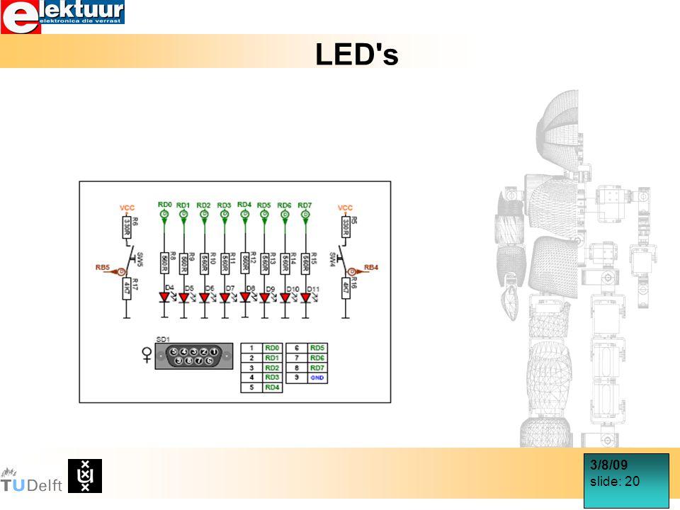 3/8/09 slide: 20 LED s