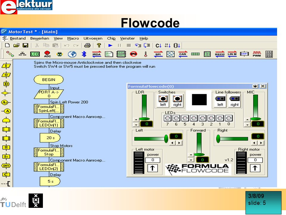 3/8/09 slide: 16 Infra Rood sensoren