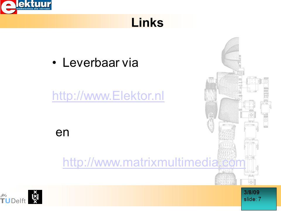 3/8/09 slide: 18 Motorsturing via PWM