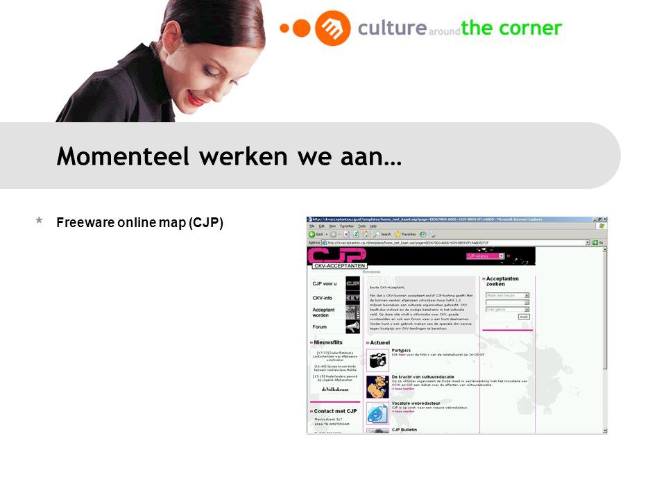 Momenteel werken we aan… Freeware online map (CJP)