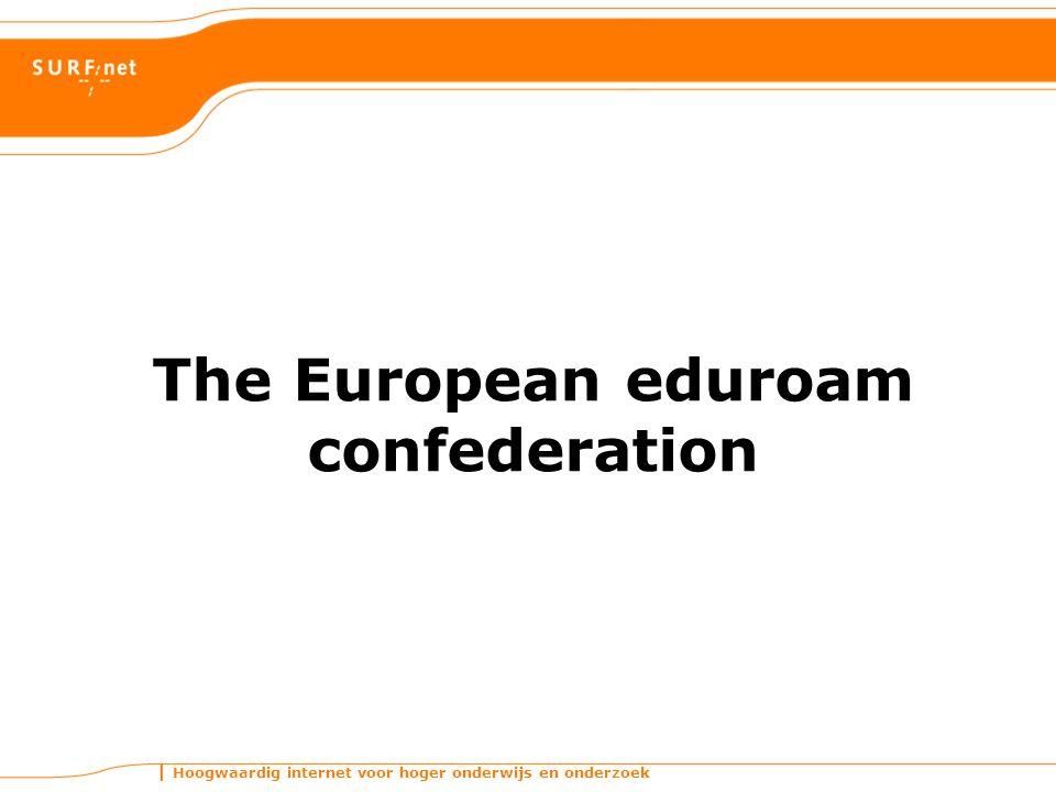 Hoogwaardig internet voor hoger onderwijs en onderzoek The European eduroam confederation