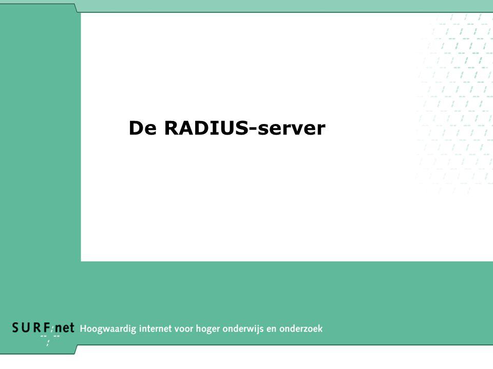 De RADIUS-server