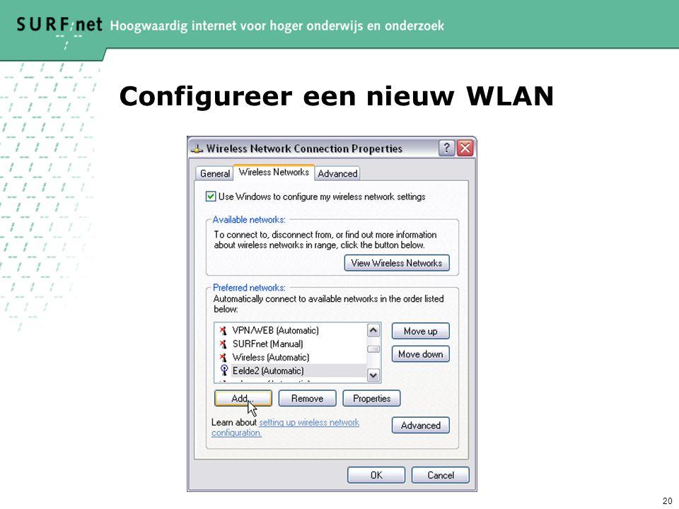 20 Configureer een nieuw WLAN