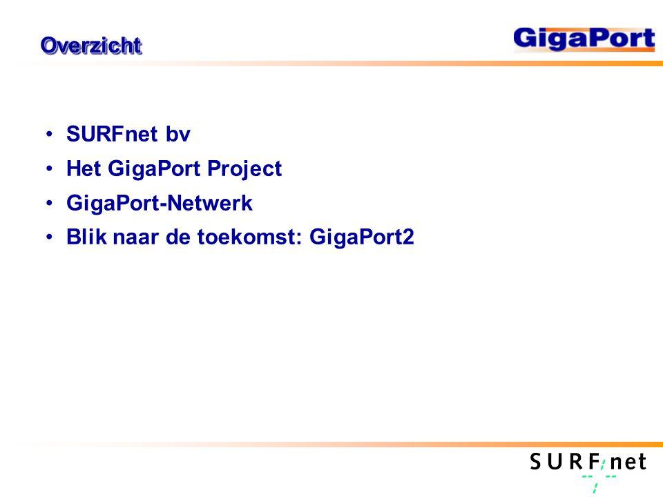 OverzichtOverzicht SURFnet bv Het GigaPort Project GigaPort-Netwerk Blik naar de toekomst: GigaPort2