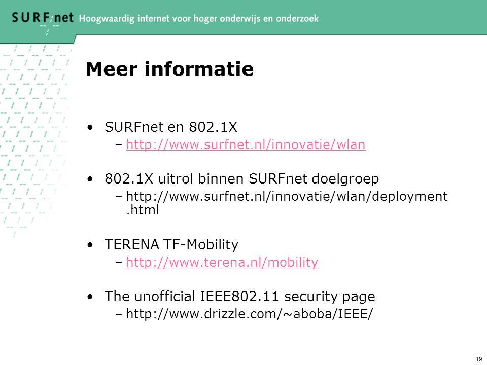 18 Conclusie WLAN kan veilig Gastgebruik geeft synergie 802.1X is de toekomstvaste oplossing