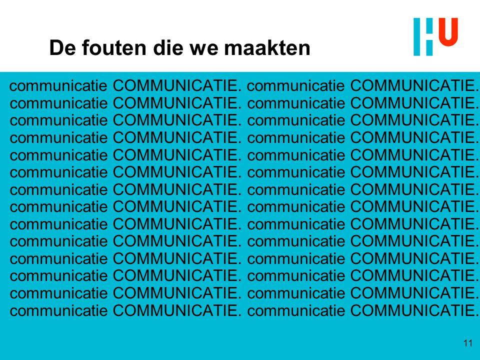 De fouten die we maakten communicatie COMMUNICATIE. communicatie COMMUNICATIE. communicatie COMMUNICATIE. communicatie COMMUNICATIE. communicatie COMM