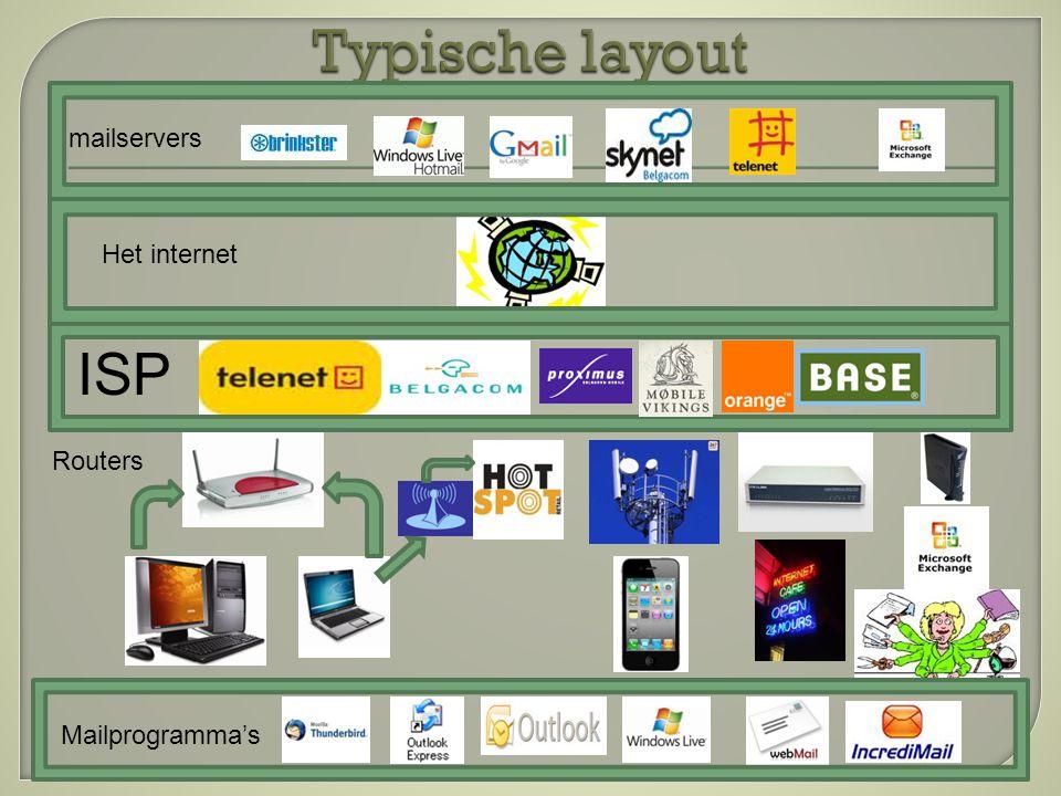  Belgacom ondersteunt IMAP en dit vanaf 1/09/2010  IMAP 1°) Selecteer in het veld 'Het servertype voor inkomende mail is:' de waarde 'IMAP'; 2°) Tik in het veld 'Inkomende mailserver:' 'imap.skynet.be'; 3°) Tik in het veld 'Uitgaande mailserver:' 'relay.skynet.be';  POP3  1°) Selecteer in het veld 'Het servertype voor inkomende mail is:' de waarde 'POP3'; 2°) Tik in het veld 'Inkomende mailserver:' 'pop.skynet.be'; 3°) Tik in het veld 'Uitgaande mailserver:' 'relay.skynet.be';  Webmail w