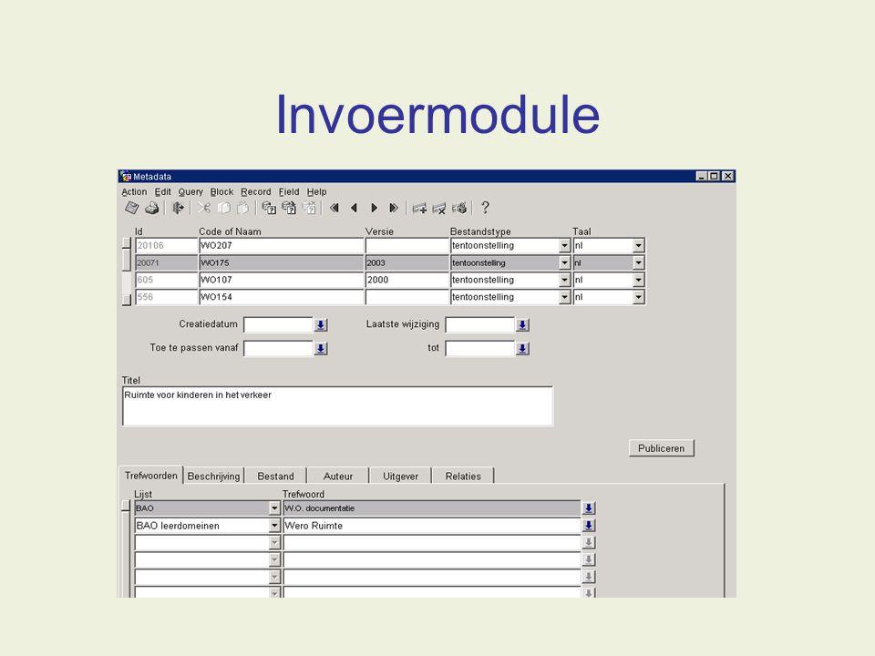 Invoermodule